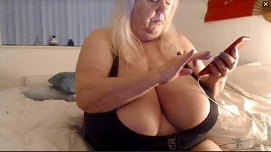 your grandmas best friend texting you to come over and worship her big saggy white tits