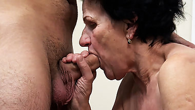86 year old granny needs a young dick